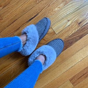 Grey fur uggs 😍
